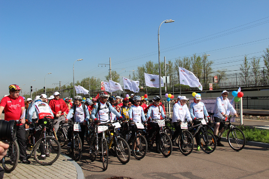 Старт велопробега Петербург - Москва