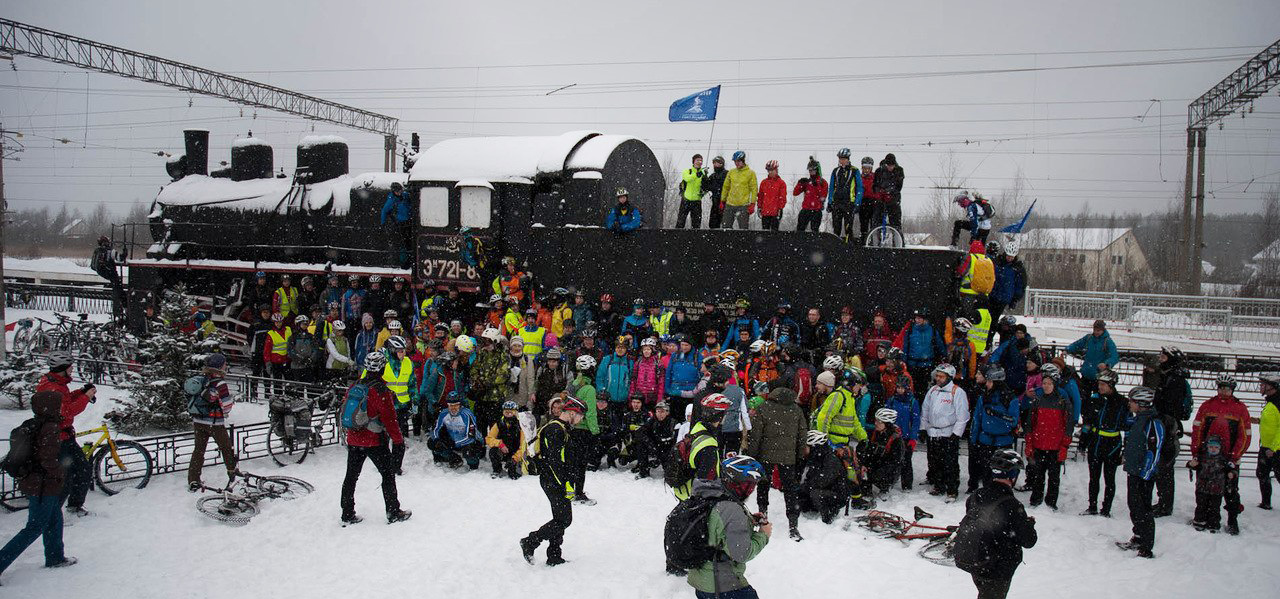 Дорога Жизни по льду, 2016, велопробег